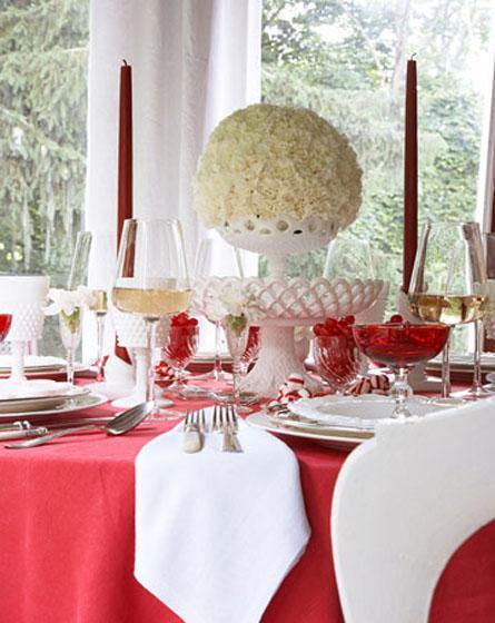 decor red and white christmas7 Decorate for Christmas with Red and White HomeSpirations