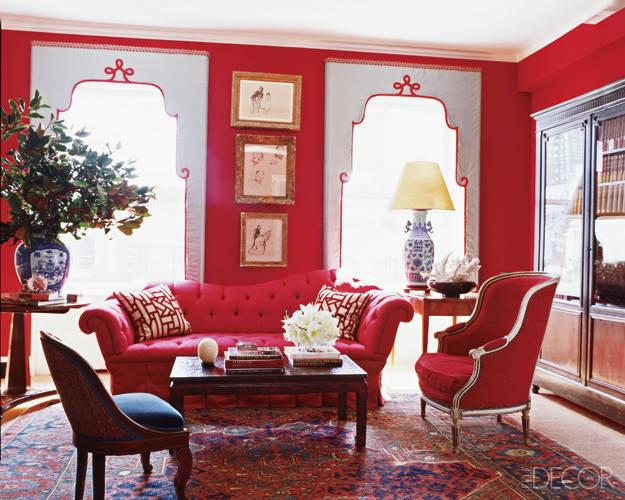 color roundup using red in interior design part 2