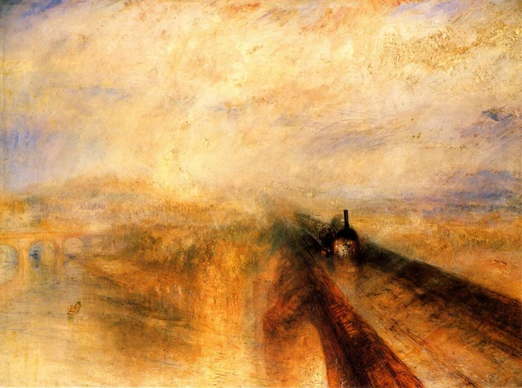 Turner Rain Steam and Speed the Great Western Railway1 1024x760 Original Painting: Learn to paint like a master artist