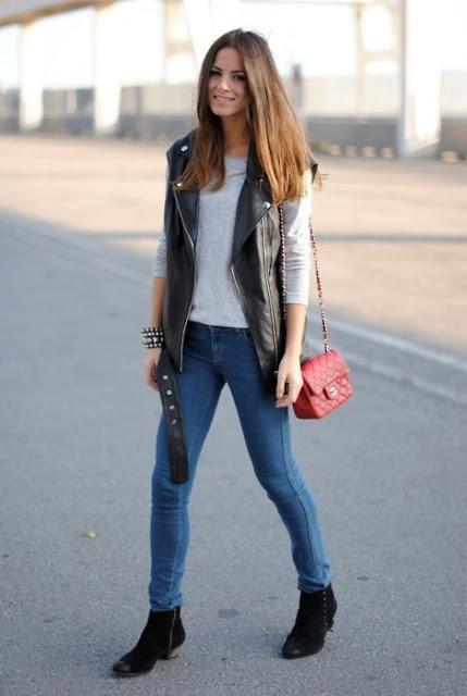 one love: leather vest