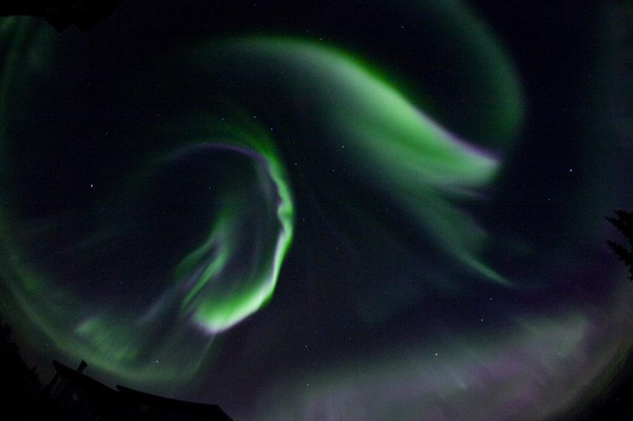 Aurora Dancing in the Night