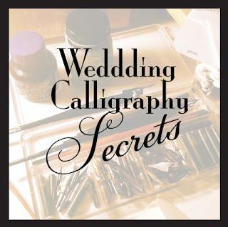 Wedding Calligraphy 101 Secrets Of The Studio Paperblog