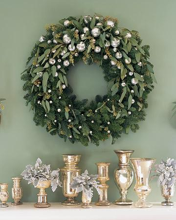 My Christmas Wreath, Other Peopleu0027s Gorgeous Wreaths, And Christmas Mantel Decorating  Ideas