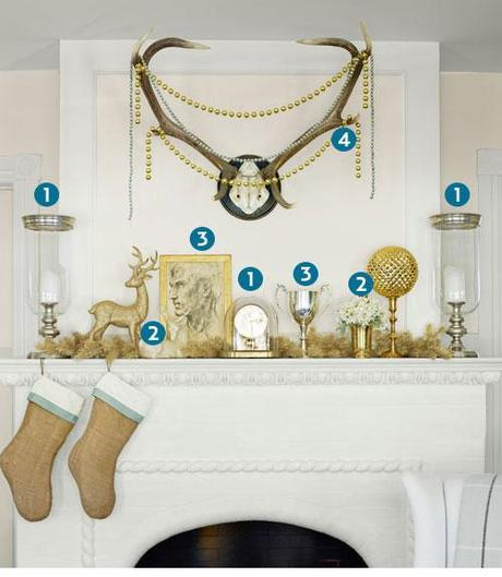 My Christmas Wreath, other people's gorgeous wreaths, and Christmas mantel decorating ideas