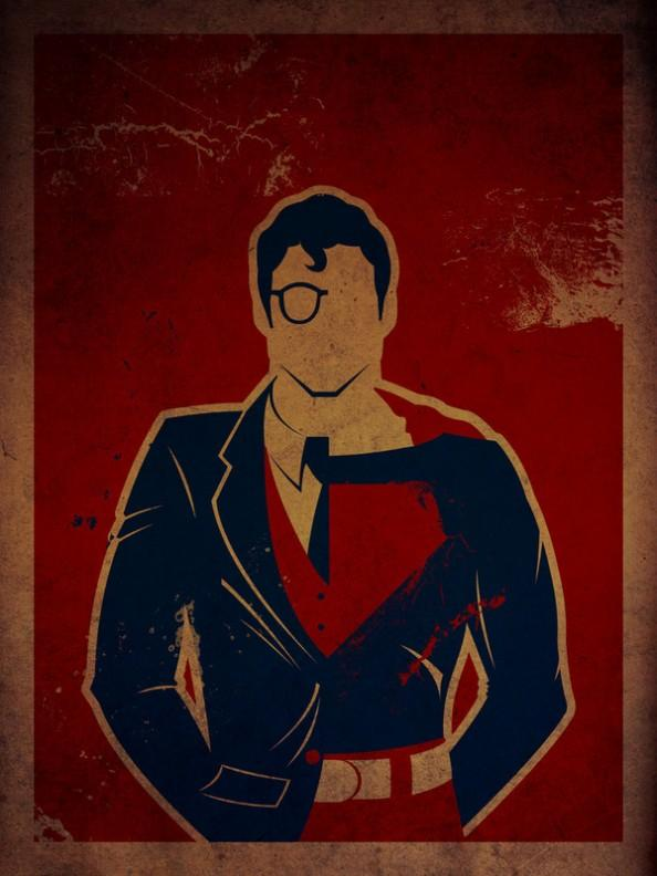 Superheroes & Their Secret Identities Art