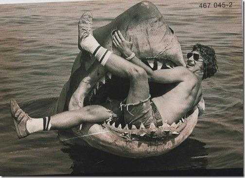 Jaws BTS 10 Awesome Behind the Scenes Horror Film Photos