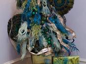 Create Peacock Tree with Paper Feathers