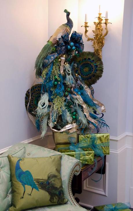 YES Spaces peacock tree and pillow small Create a Peacock Tree with Paper Feathers