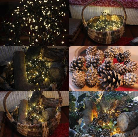 diy project make a rustic basket decoration for christmas - Christmas Basket Decorations