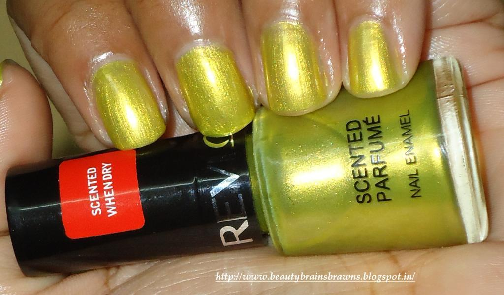 Revlon Scented Nail Enamel - Shade Beach (03) Review