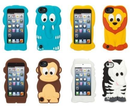 KaZoo iPod Touch 5G Silicone Case - Lion, Monkey, Elephant, Zebra