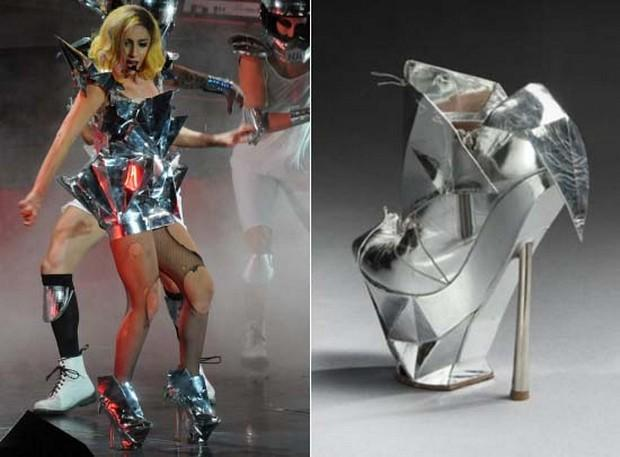 Lady Gaga's Emporio Armani Shoe is up for Auction