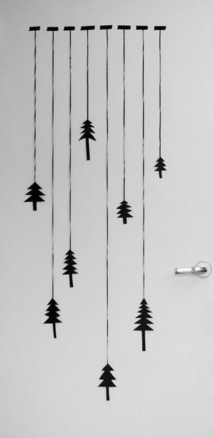 It's a black and white Xmas: graphic trees