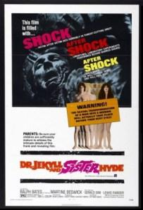 The SHOCK SHOCK SHOCK poster for Dr Jekyll
