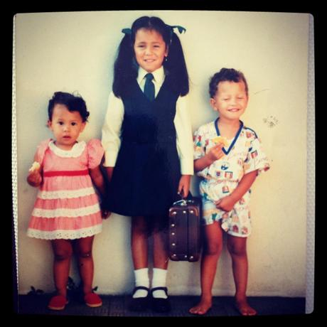 My first day of school with my siblings for moral support. I love my parents for making every moment special growing up.