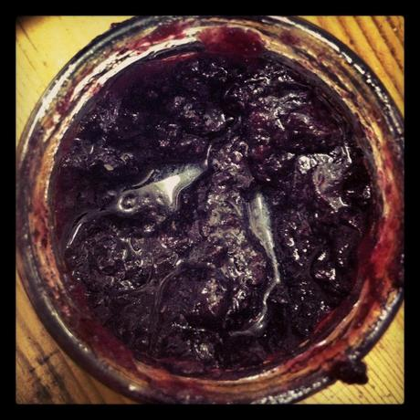 ...and blueberry jam