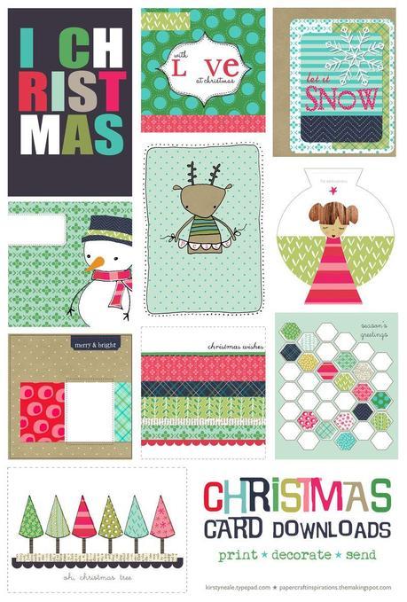 Printable Christmas cards (all)