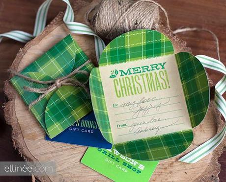 Printable Country Christmas Petal Card