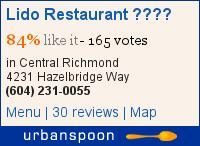 Lido Restaurant 麗都餐廳 on Urbanspoon