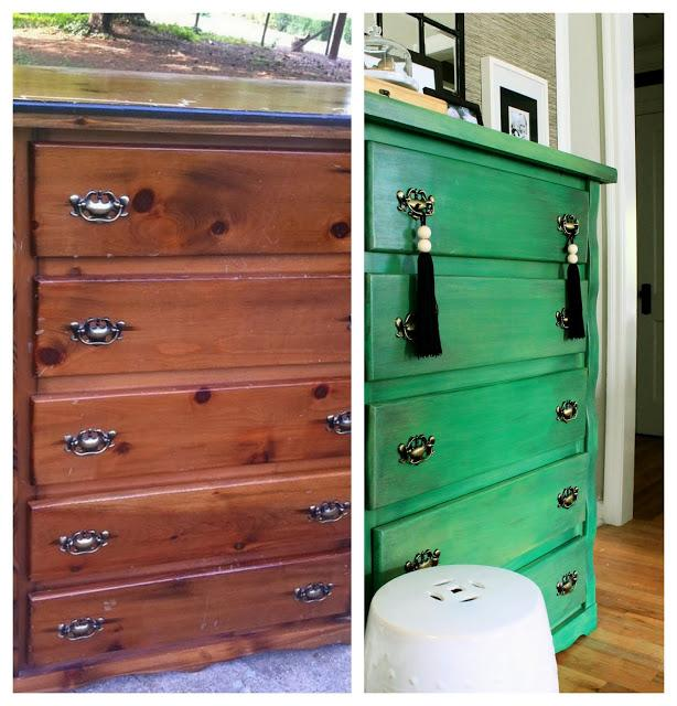 the hunted interior DIY green dresser How to Use Emerald in Your Childs Room (Pantone 2013 Color of the Year!)