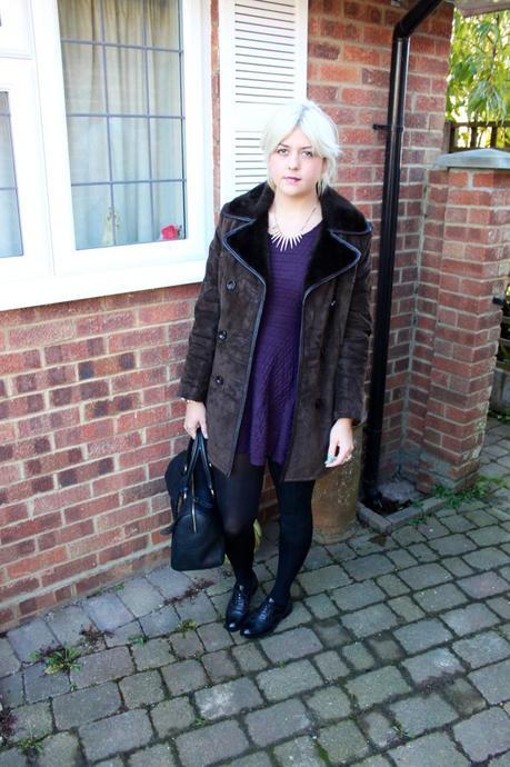 the brown suede coat