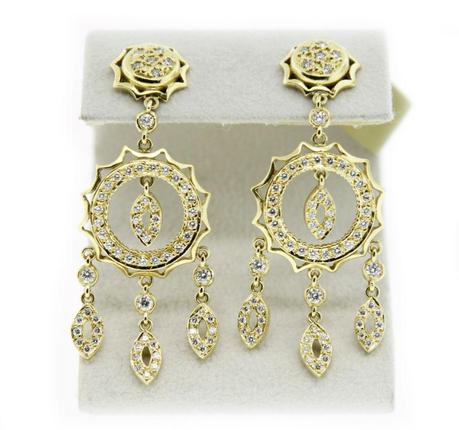 Doris Panos 18K YG and Diamond Chandelier Earrings