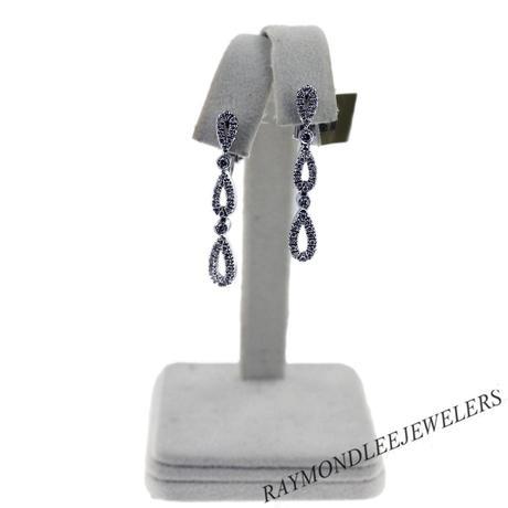 18k White Gold Cascading Teardrop Earrings