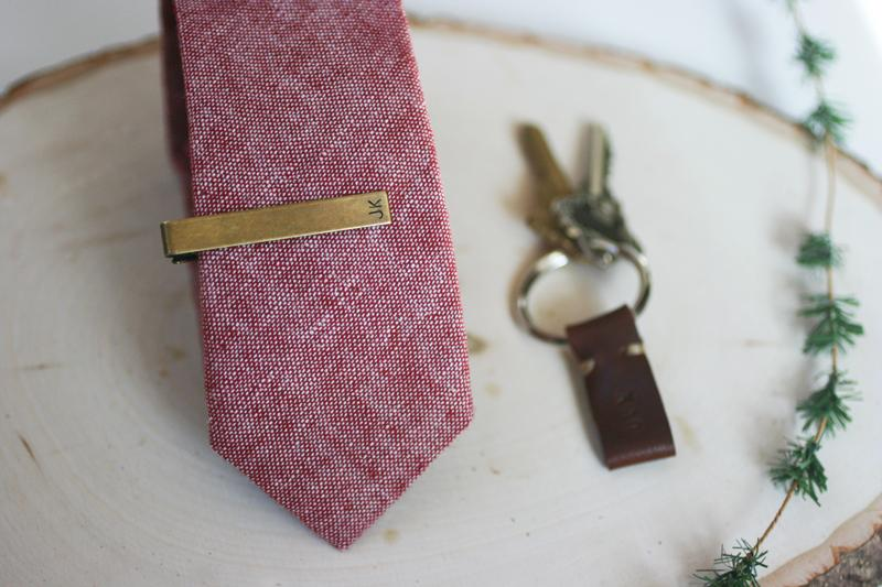 DIY personalized tie clips