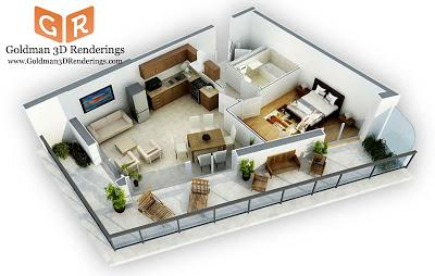 Photorealistic 3d floor plans are a great architecture selling tool ...