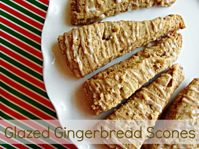 Glazed Gingerbread Scones 650x487 Glazed Gingerbread Scones