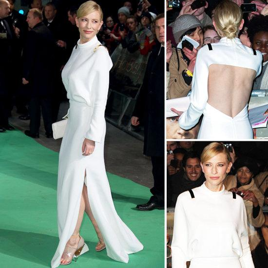 Cate Blanchett in Resplendently White Givenchy Gown at Hobbit Premiere