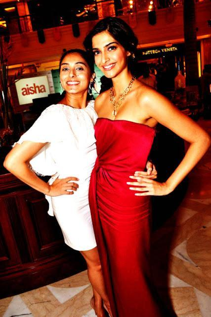Sonam Kapoor and Prernia Qureshi