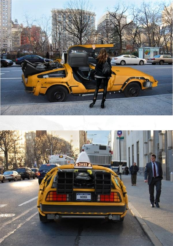 Nooka NYC DeLorean Taxi 2 NYC DeLorean Cab Takes You Back to Your Future Destination