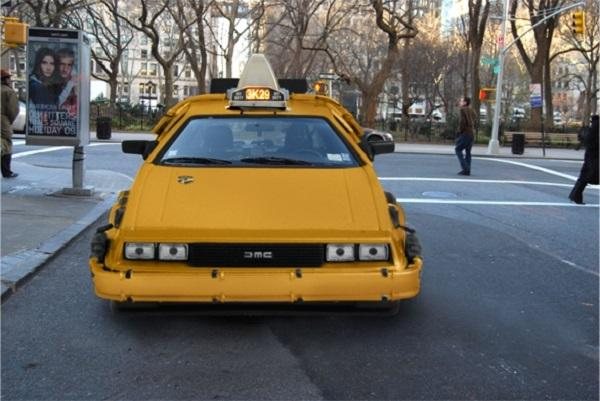 NYC DeLorean Cab Takes You Back to Your Future Destination
