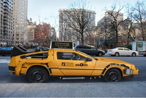 Nooka NYC DeLorean Taxi NYC DeLorean Cab Takes You Back to Your Future Destination