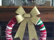 Christmas Sock Wreath {DIY}