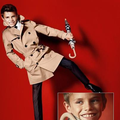 Romeo Beckham Shines as Young Burberry Model