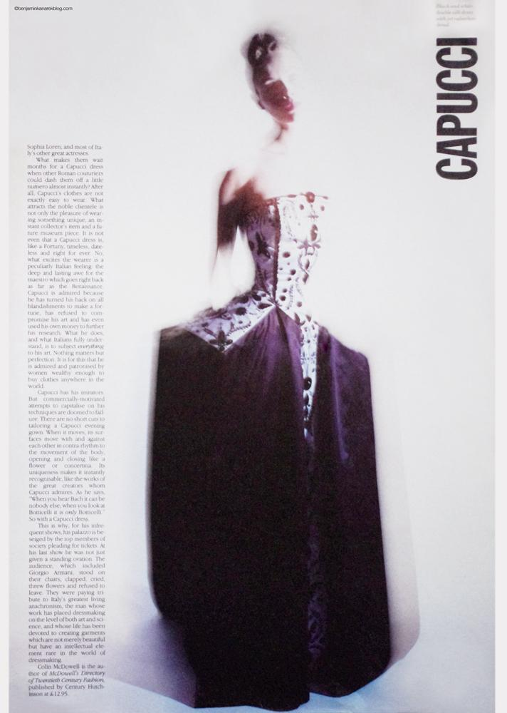 Capucci for W - Europe  © Benjamin Kanarek - Archives 1990