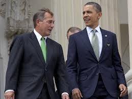 Speaker John Boehner and President Barack Obama