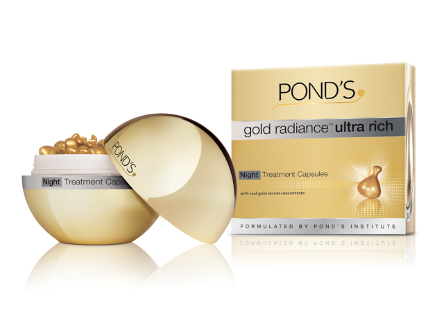 Pond's launches Gold radiance™ Ultra Rich Night Treatment Capsules