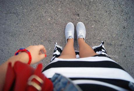 Stripy mini-maxi - Outfit by TheMowWay.com