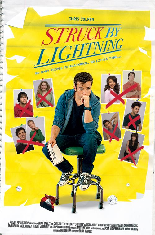 Struck by lightning movie poster