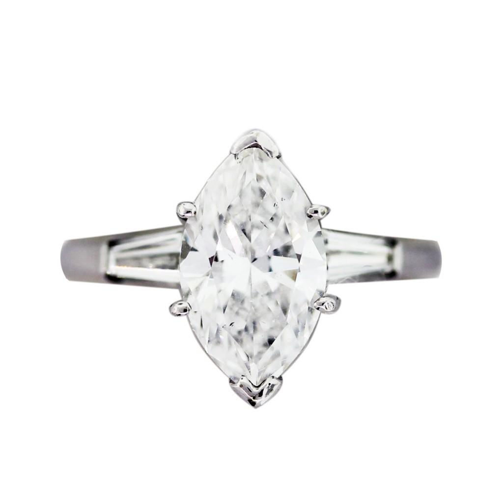 marquise engagement ring, 2 carat engagement ring, 2ct diamond ring
