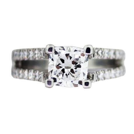 1.5ct cushion cut diamond engagement ring, cushion cut engagement ring