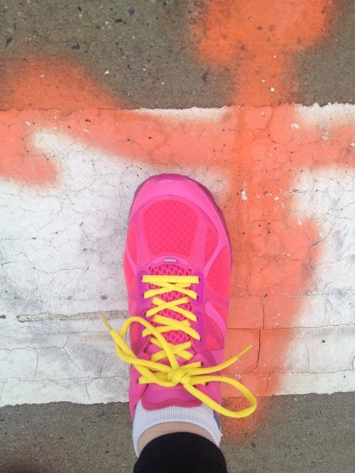 "I've wanted hot pink running sneakers for a while now, so I asked my parents to buy me a pair for Christmas. They asked which ones, so I chose the cheapest pair I could find on the Internet, and sent them a link. A few days later, I received a phone call from my father. ""That link you sent me was spam mail!"" he screamed. ""How can a link be spam mail?"" I asked, trying to sound reasonable. But he had already hung up the phone. Later in the day he informed me that I probably wouldn't be receiving my sneakers at all, if ever, because they were coming from a company in China who was trying to steal his credit card information. ""I tried to cancel the order,"" he said. ""But they wrote back an email, 'This very good company, please don't do.'"" The sneakers hadn't arrived by Christmas morning, but I received a box of Russell Stover chocolates, so I hardly noticed. On Boxing Day, however, they miraculously appeared on my parent's doorstep. This morning, the family drove down to Brooklyn, primarily to visit the cat Butters, with whom my sisters are obsessed. But they also brought the sneakers. ""These are pretty fucking cool,"" I said when I took them out of the box. But I didn't use the word ""fucking,"" because the last time one of us cursed around my father—it was my sister Blara—he chased her around the house for 20 minutes. ""I'm not sure they're real,"" my father said. ""They're fine,"" I said. ""They're probably straight from the factory."" But the seed of doubt had crept into my heart, planted and nourished by my omnipotent father. I held the sneakers up close to my face. I poked at the bubbles in the air pockets in the soles. The bubbles felt weak. ""Maybe they are fake,"" I conceded. I wore the sneakers on my run later in the morning. In them, I tread hesitantly."