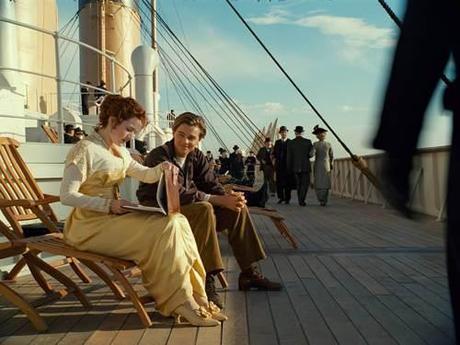 Kate Winslet and Leonardo DiCaprio in Titanic. (Paramount)