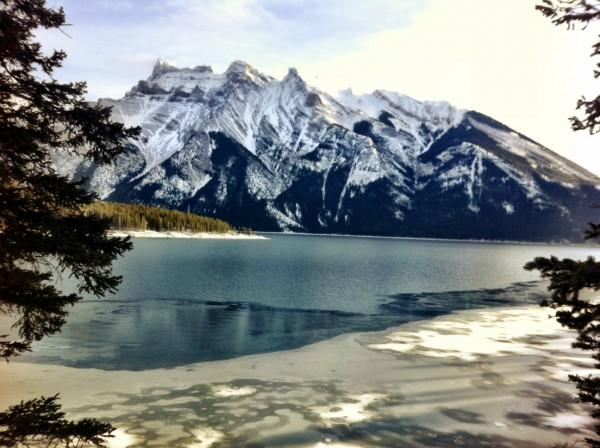 Lake Minnewanka seen en route to Stewart Canyon in Banff National park