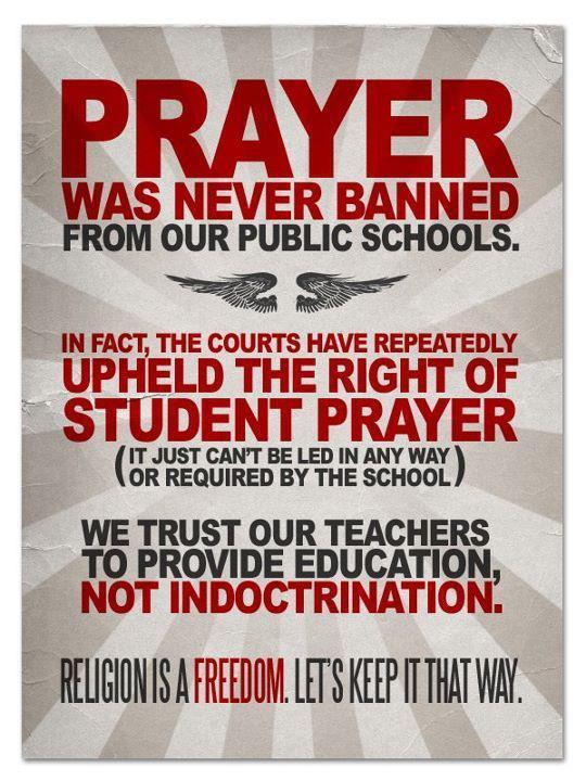 Prayer in schools thesis