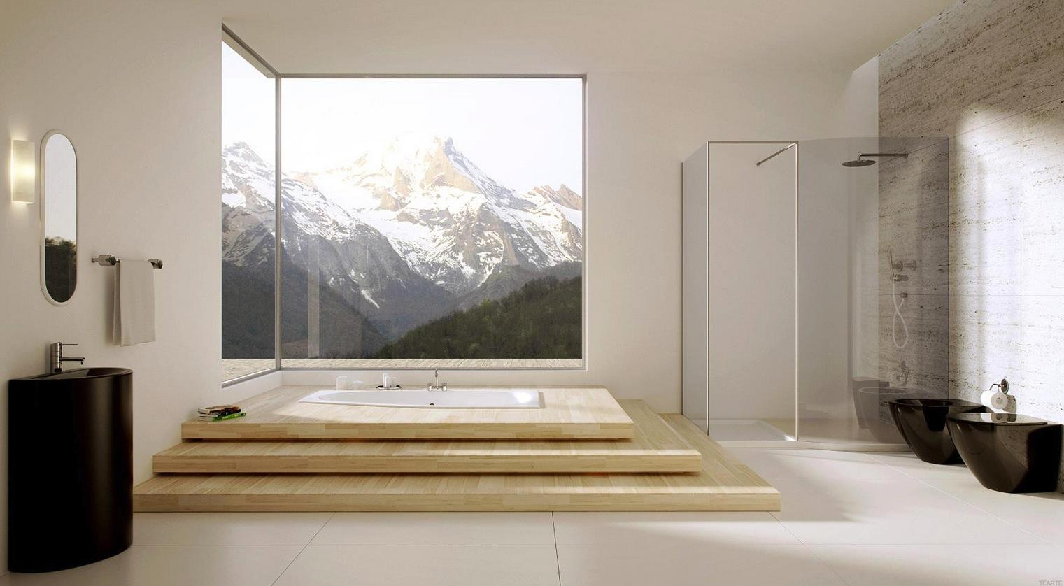 Great Bathroom Designs Amusing Of Modern Bathroom with Large Windows Pictures