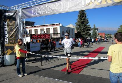 Donald Leadville Finish Line